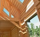 timber beam house