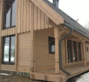country timber frame house