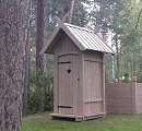 timber frame outhouse